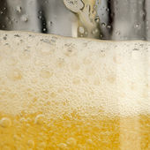 Beer with Frothy Foam — Stock Photo