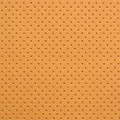 Yellow Perforated Artificial Leather Background Texture — Stock Photo