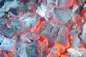 Glowing Hot Embers — Stock Photo