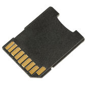 Micro SD Card Adapter Isolated on White Background — Stock Photo