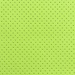 Light Green Perforated Artificial Leather Background Texture — Stock Photo