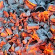 Stock Photo: Glowing Hot Wood Embers