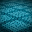 Blue-Toned Tiled Pavement — Foto Stock