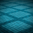Stock Photo: Blue-Toned Tiled Pavement