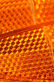 Orange Retroreflectors Macro — Stock Photo