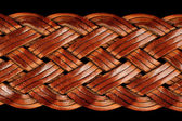 Braided Leather Belt Close-Up — 图库照片