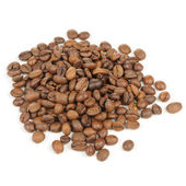 Arabica Coffee Beans Isolated on White Background — Stock Photo