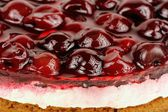 Cherry Jelly Cake Close-Up — Stock Photo