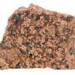 Piece of Polished Red Granite Isolated on White Background — Stock Photo #47796987