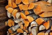 Stack of Split Firewood — Stock Photo