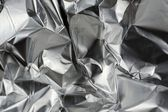 Crumpled Aluminum Metal Foil — Stock Photo