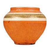 Vintage Ceramic Pot Isolated on White Background — Stock Photo