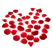 Heart Shape Made of Red Rose Petals — Stock Photo