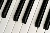 Black and White Piano Keys — Stock Photo