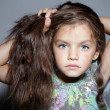 Fashion beautiful little girl - Stock Photo