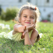 Portrait of a happy little girl — Stock Photo