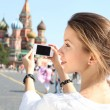 Royalty-Free Stock Photo: Woman photographed attractions in Moscow