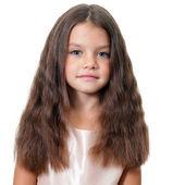 портрет крупным планом хорошенькая девочка — Стоковое фото
