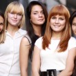 Closeup portrait of five urban women — Stock Photo