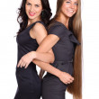Blonde and Brunette - two friends — Stock Photo #13543637