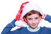 Glad santa pojke leende — Stockfoto
