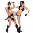 Two dancers dressed as police — Stock Photo #13916637