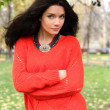 Royalty-Free Stock Photo: Autumn portrait of a girl in a red sweater