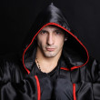 Young man in a monks robe — Stock Photo