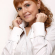 Young beautiful redhead woman — Stock Photo