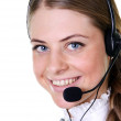 Business woman with headset — Stock Photo #15845187