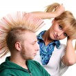 Couple hair style — Foto de Stock