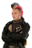 Moscow street punx. isolated on white — Stock Photo