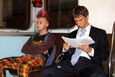 Punk on the street in metro — Stock Photo