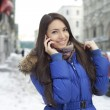 Young woman calling by phone — Stock Photo