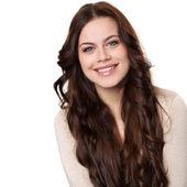 šťastná mladá žena s úsměvem — Stock fotografie