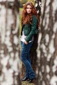 Portrait of the young beautiful girl — Foto de Stock