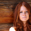 Portrait of the beautiful red-haired girl - Stockfoto