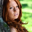 Portrait of red-haired beautiful young woman — Stock Photo #19192277