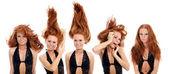 Belle ragazze con i capelli rossi — Foto Stock