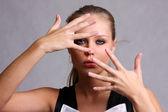 Kvinnliga fingrar — Stockfoto