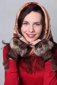 Russian scarf — Stock Photo