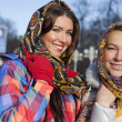 Royalty-Free Stock Photo: Portrait of a young women in russian scarf