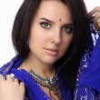 Blue Sari — Stock Photo