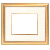 Baget frame isolated on white — Stock Photo