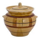 Ceramic pot isolated on white background — Stock Photo