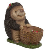 Statue garden hedgehog — Stock Photo