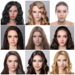 Stock Photo: Glamor portrait of beautiful women