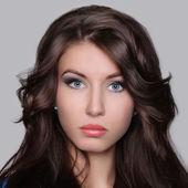 Blask portret pięknej kobiety — Zdjęcie stockowe