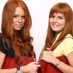 Shopping, two young women — Stock Photo