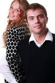 Portrét šťastný mladý pár — Stock fotografie